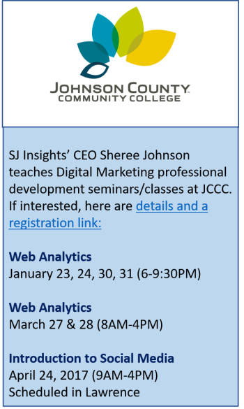 JCCC Class Schedule - Sheree Johnson